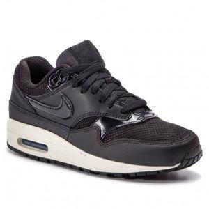 Nike Air Max 1 Black Summit White Leather Mesh